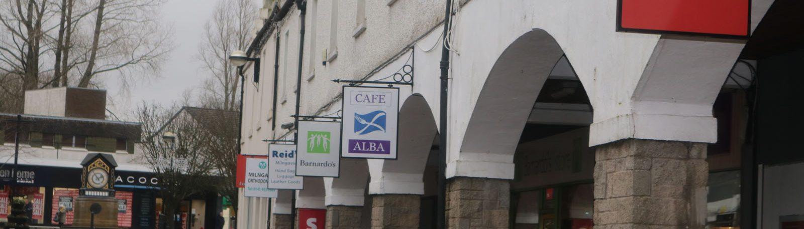 Main Street shops in Milngavie