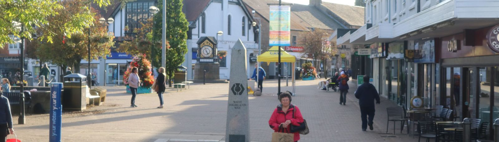 Milngavie Precinct October 2019, where Milngavie life happens