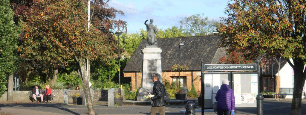 Milngavie memorial in town centre