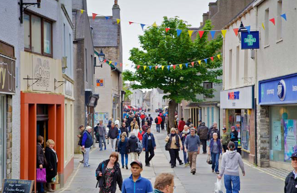 Kirkwall named as most beautiful High Street. Milngavie in 3rd place