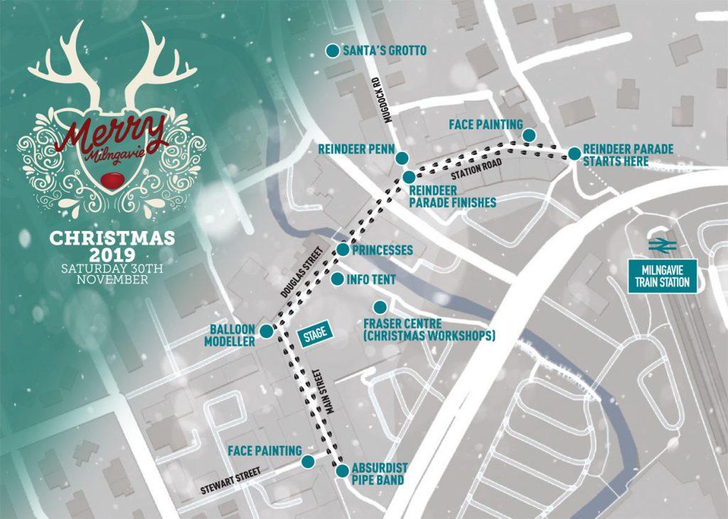 Merry Milngavie 2019 Christmas Event Map