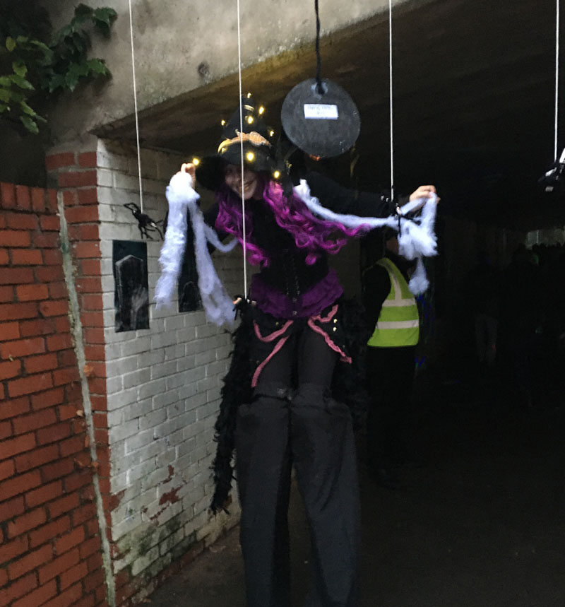 Witch On Stilts UnderPass in Milngavie 2019