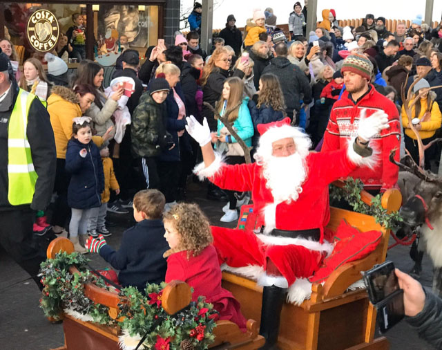 Festive Lights switch on and Parade with santa