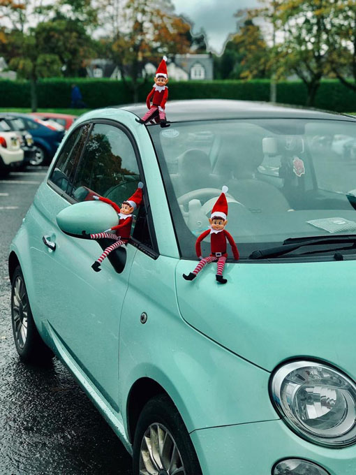 elves engaging in car repairs