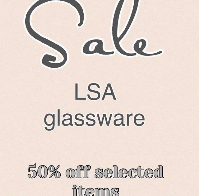 Sale at Ruby Red on LSA glassware.
