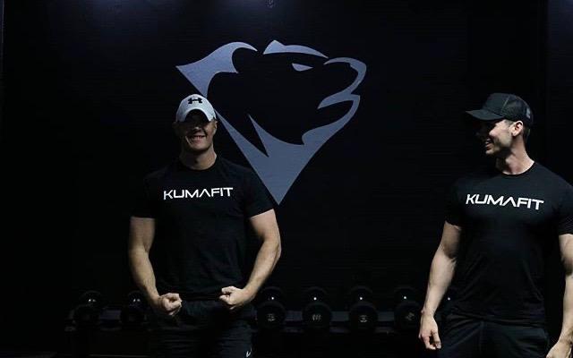 Fraser and Ryan modelling KUMAFIT t-shirts