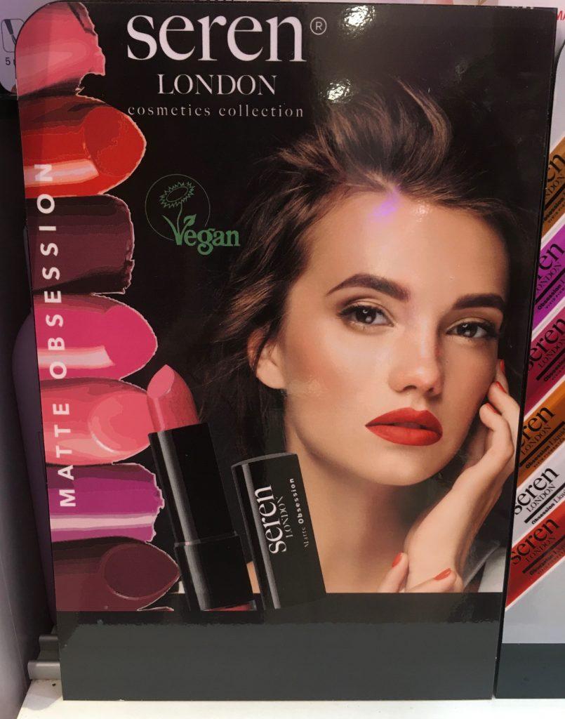 Gordons Chemist vegan lipstick and nail poster