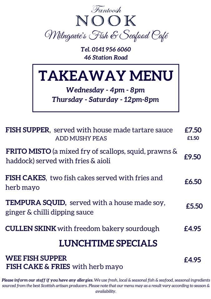 Fantoosh Nook takeaway menu