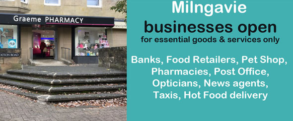 Shops open in Milngavie for essential goods