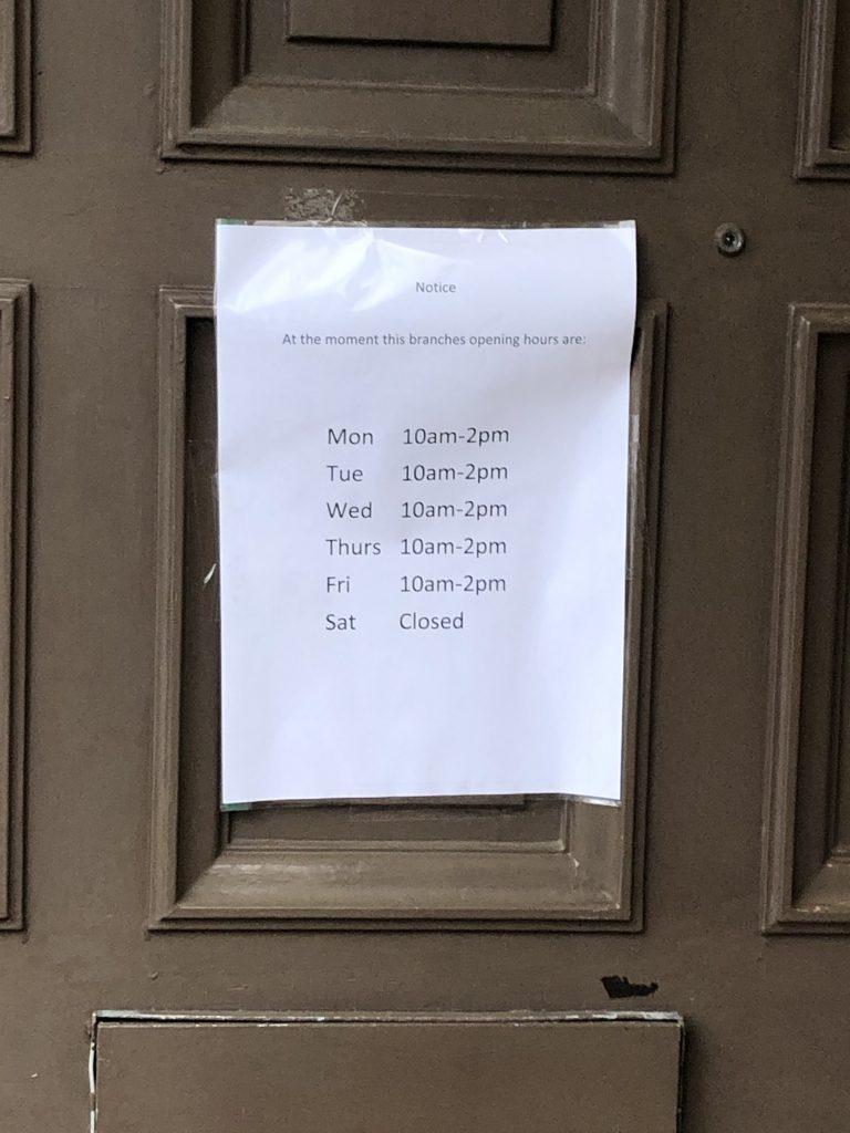 Bank of Scotland opening timings