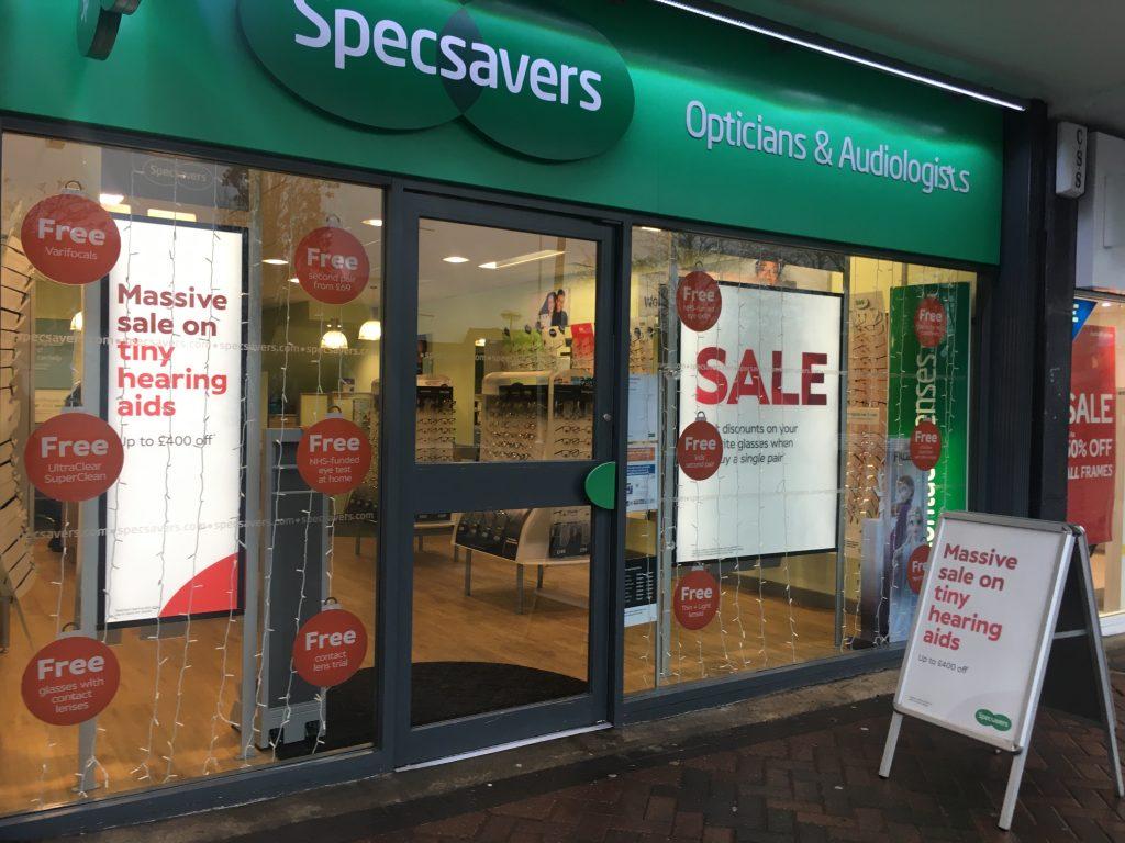 Specsavers shopfront Milngavie