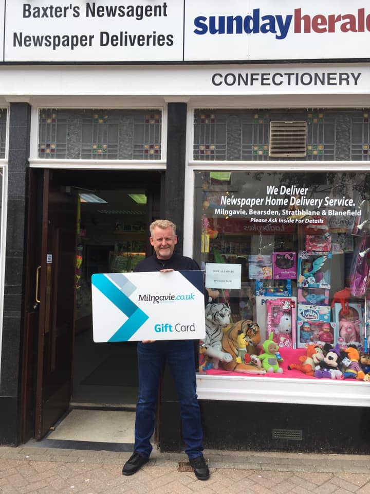 Baxter's Newsagents open and delivering