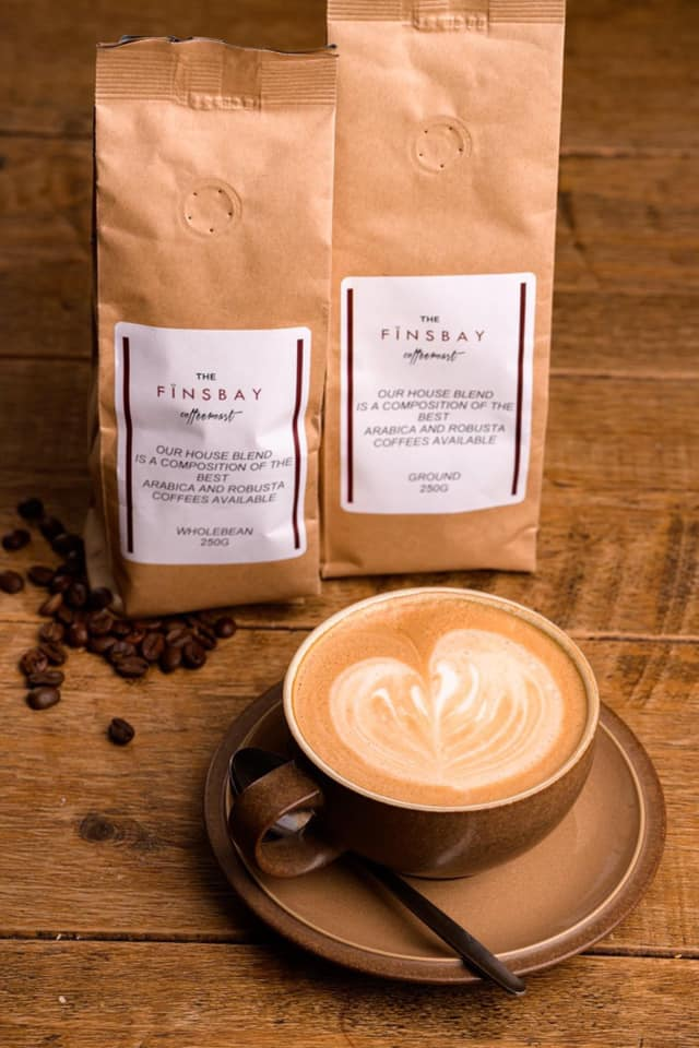 Finsbay open for takeaway coffee, cake and hot rolls