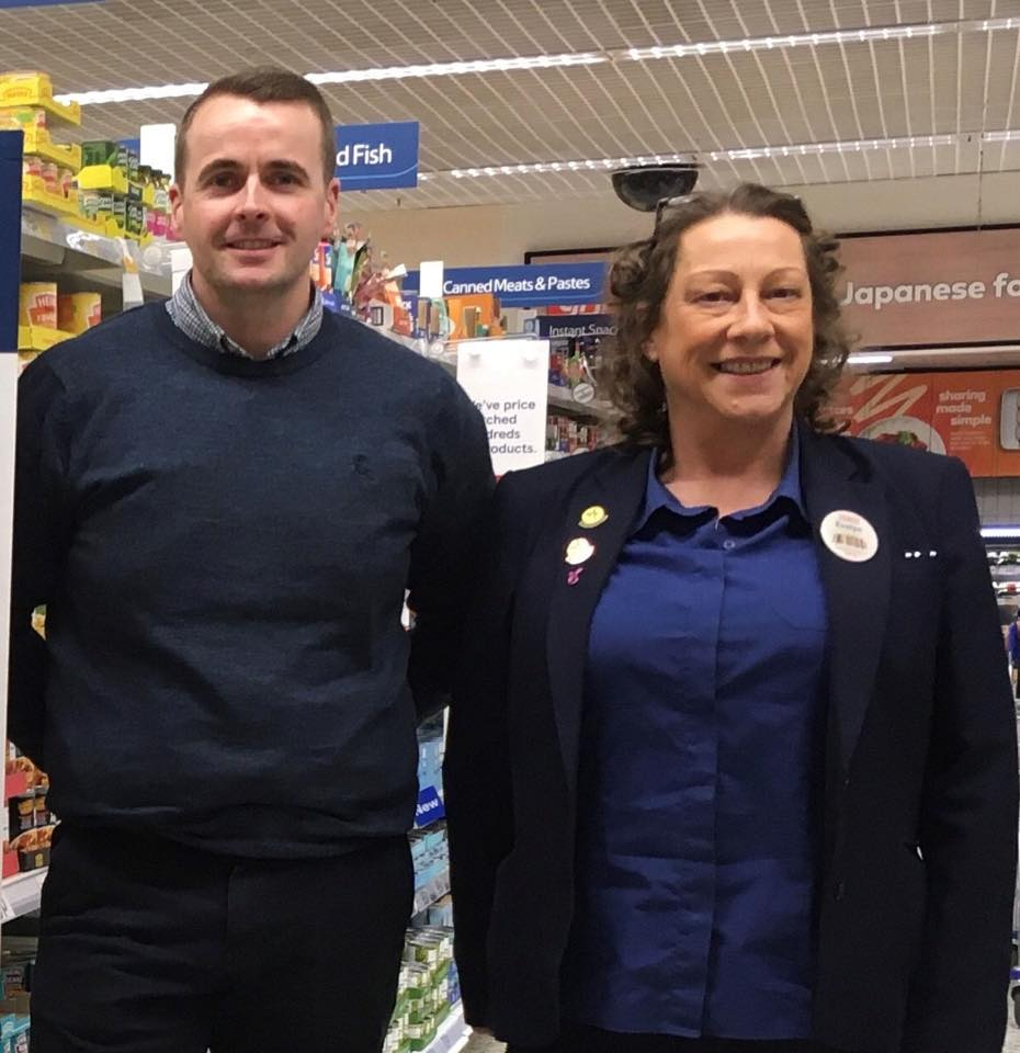 Tesco Milngavie manager Dean and community champion Evelyn