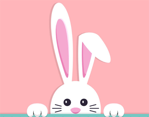 Easter Bunny Hunt in Milngavie. Happy Easter 2020