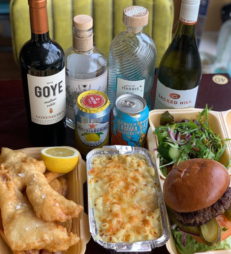 Finsbay delivering fish, macaroni, burgers and pizza