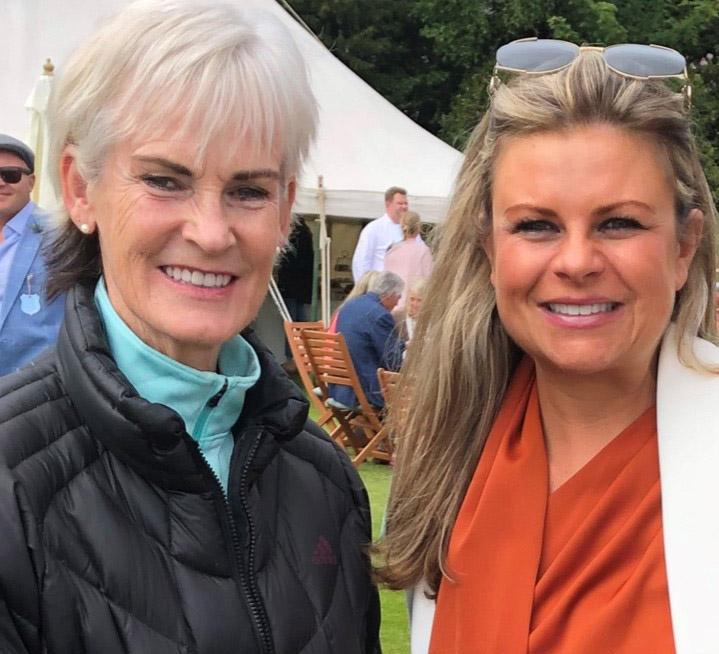 Lorna Quinn and Judy Murray