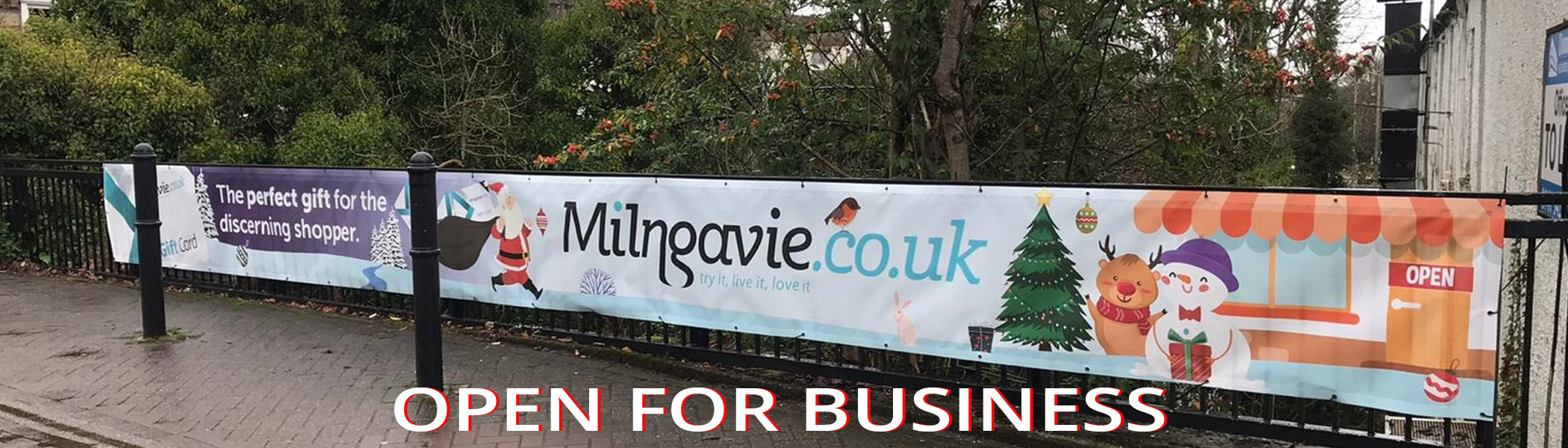 Milngavie open safely for business