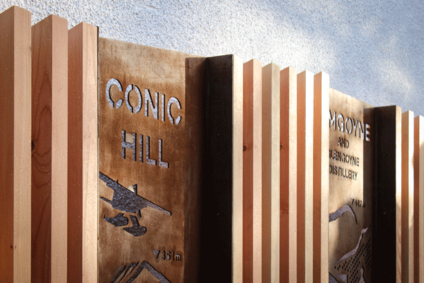 West Highland Way display boards featuring Conic Hill