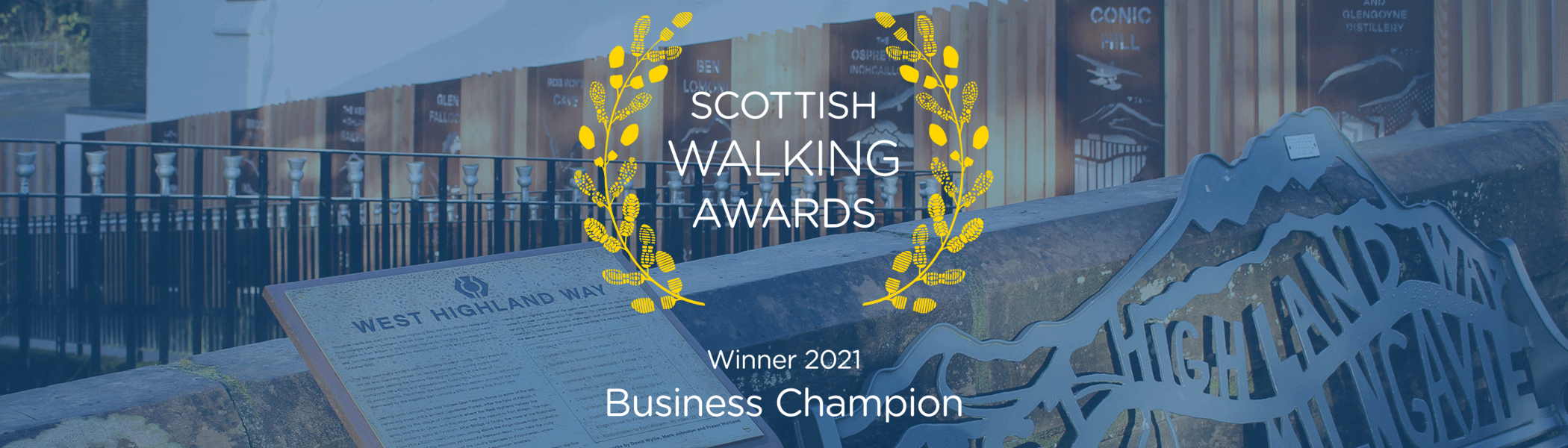 Milngavie is Scottish Walking Awards business Winner 2021