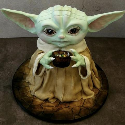 baby yoda by 3D cakes in Milngavie