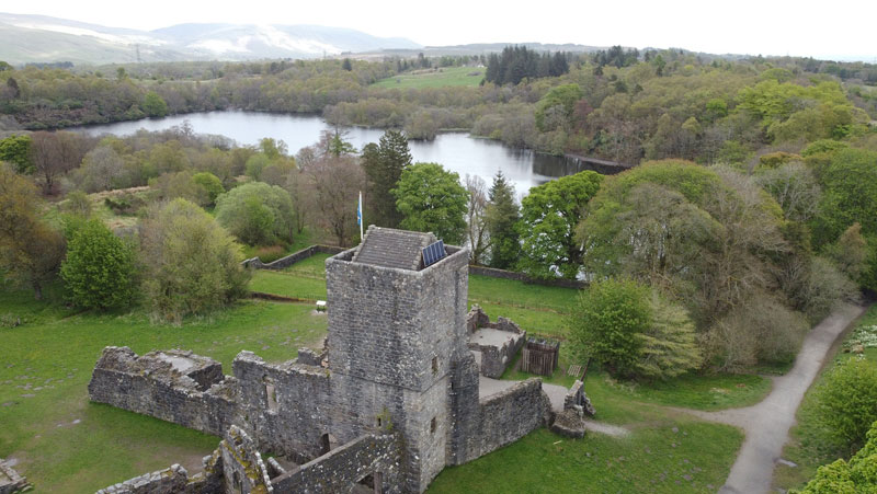 Mugdock Castle in Mugdock Country Park  for local adventure and active travel