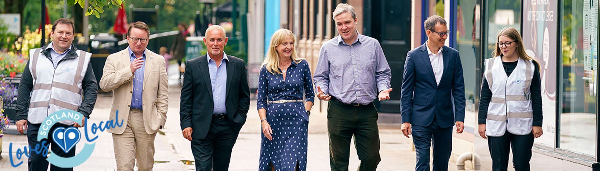 Scotland Loves Local fund Launch Milngavie August 2021