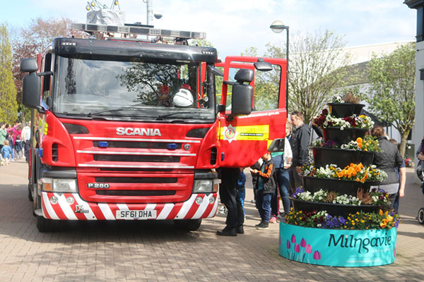 Fire Brigade from the local Milngavie Fire Station will be on hand in the precinct to promote fire safety in the home